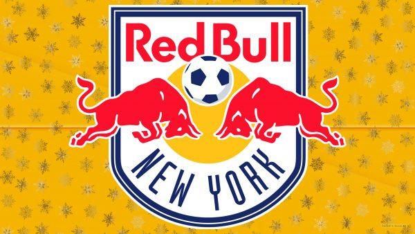 Orange New York Red Bulls football logo wallpaper