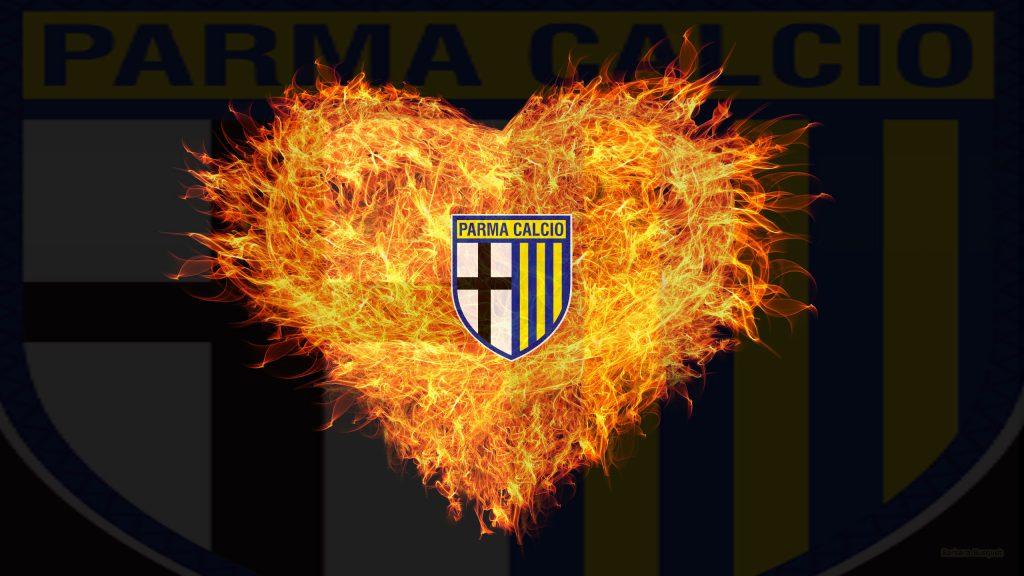 Parma Calcio heart of flames wallpaper