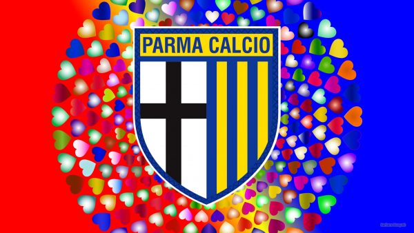Parma Calcio logo wallpaper hearts