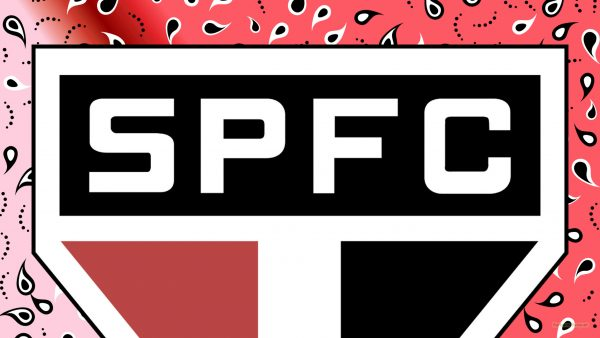 Red Sao Paolo FC wallpaper big logo