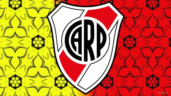 Red yellow CA Boca River Plate wallpaper