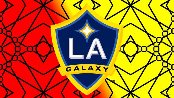 Red yellow Los Angeles Galaxy wallpaper
