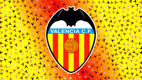 Red yellow Valencia C.F. logo wallpaper