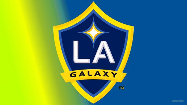 Simple blue yellow LA Galaxy wallpaper