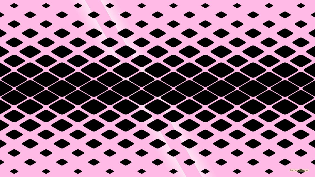 Pink wallpaper black rounded squares