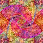 Reddish spiral wallpaper