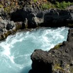 Wallpaper with Barnafoss waterfalls
