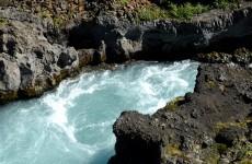 Barnafoss waterfalls Iceland