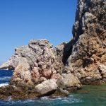 Spanish blue ocean and rocks