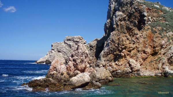 Rocks and ocean in Spain