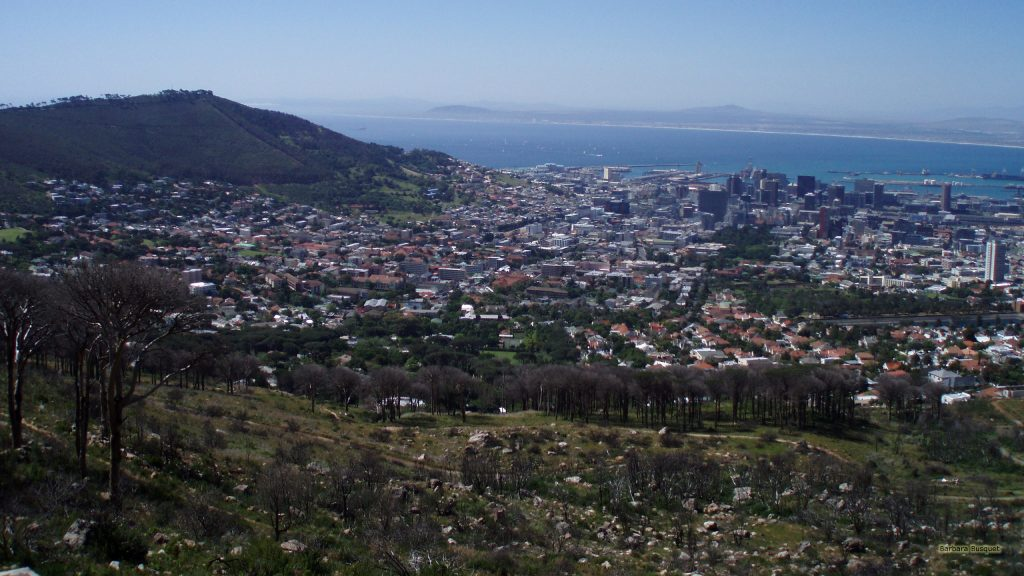 Wallpaper with a view over Cape Town.