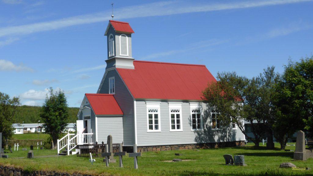 HD wallpaper church in Iceland