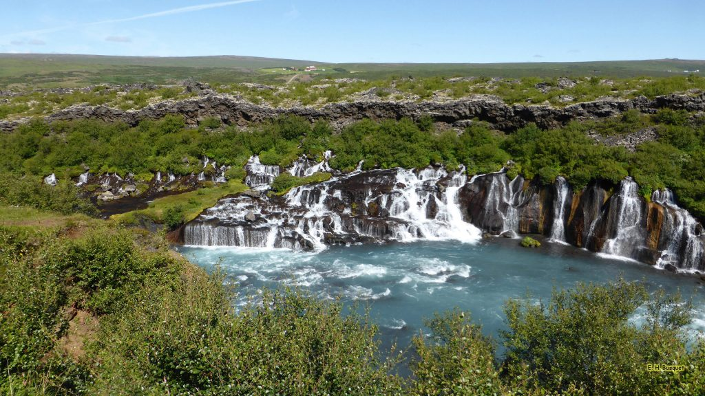 HD wallpaper Hraunfossar waterfalls