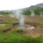 Geyser landscape in Iceland
