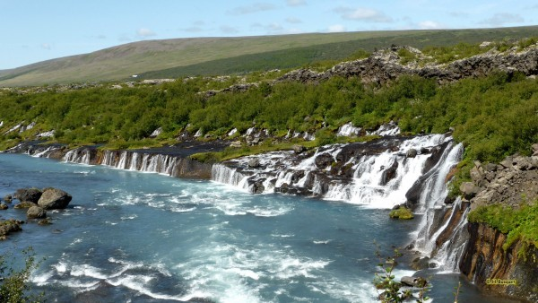 Nature wallpaper Hraunfossar on Iceland