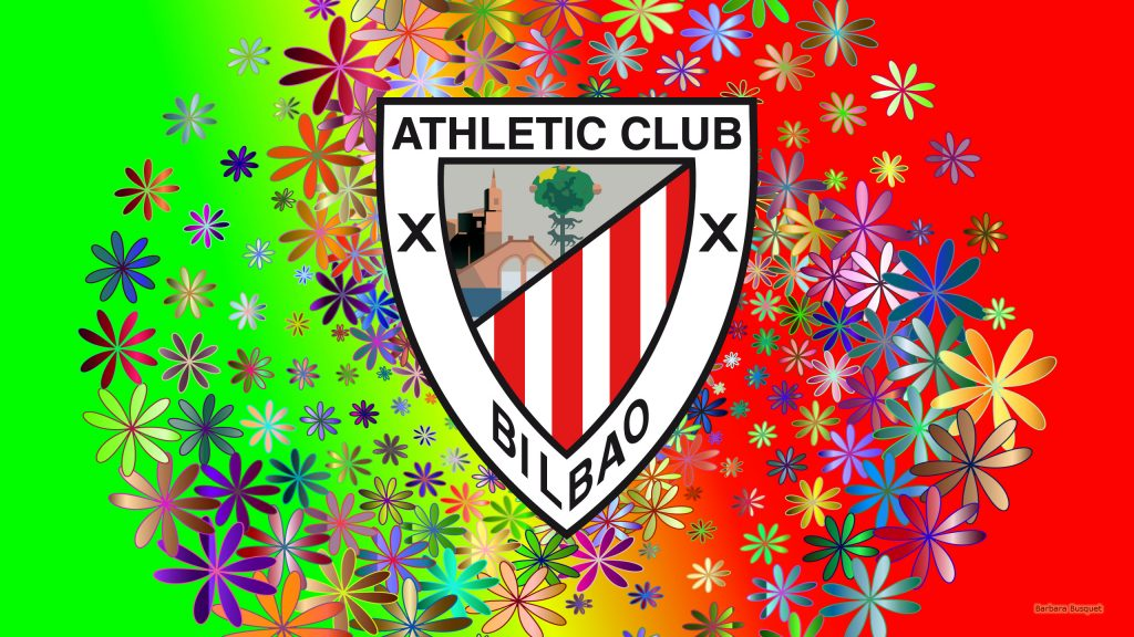 Athletic Bilbao football club wallpaper with flowers
