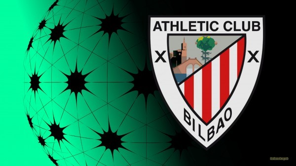 Black green Athletic Bilbao football logo wallpaper