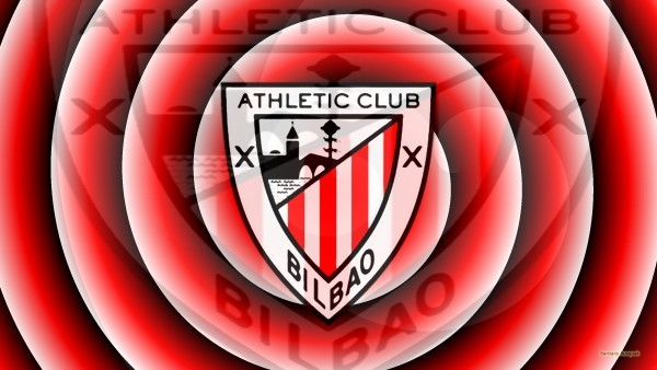 Red white Athletic Bilbao logo wallpaper