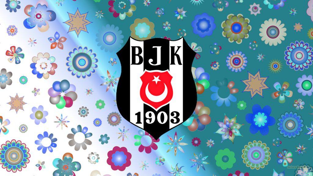 Beşiktaş J.K. logo wallpaper flowers