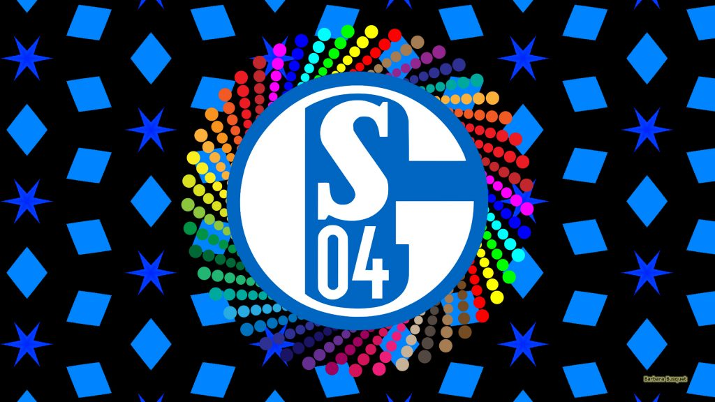 Black blue FC Schalke 04 logo wallpaper