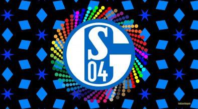 Black blue FC Schalke 04 logo wallpaper