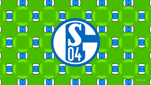 Blue green Schalke emblem wallpaper