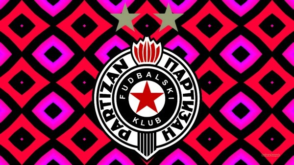 Colorful Partizan Belgrade football club wallpaper