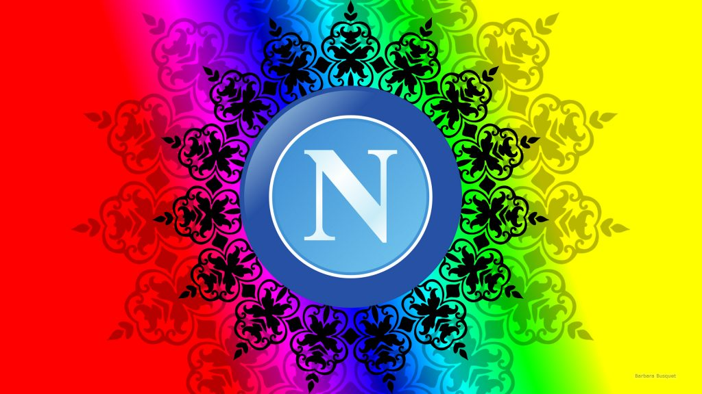 Colorful SSC Napoli logo wallpaper damask