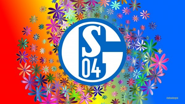 Colorful Schalke 04 football wallpaper flowers