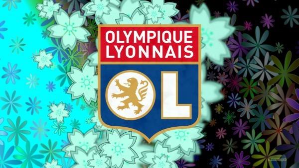 Dark Olympique Lyonnais logo wallpaper