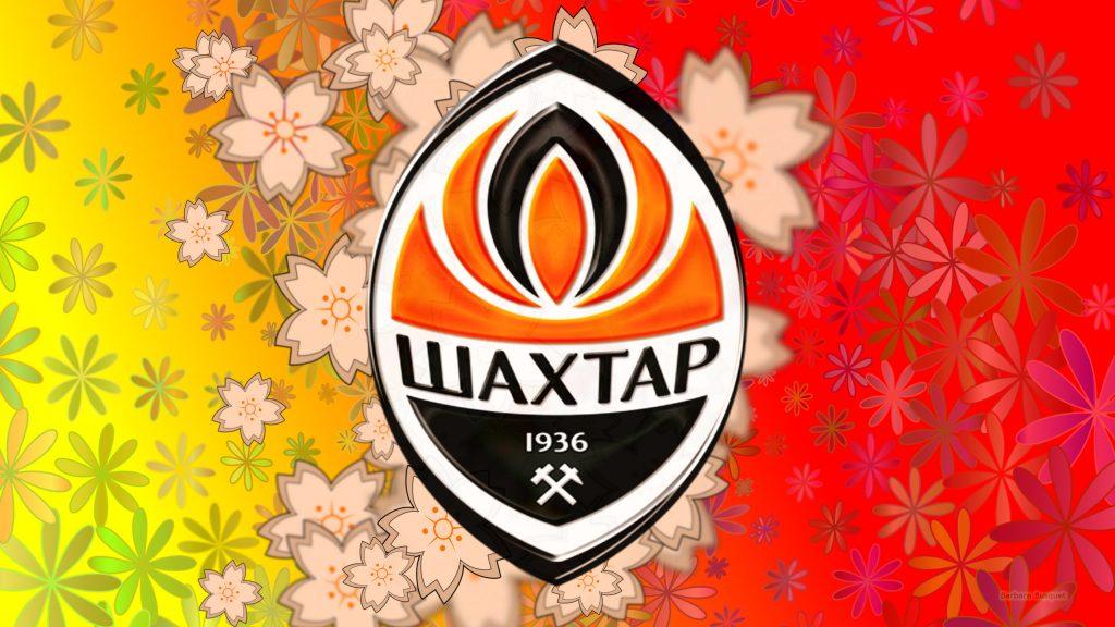 Flower pattern Shakhtar Donetsk logo wallpaper