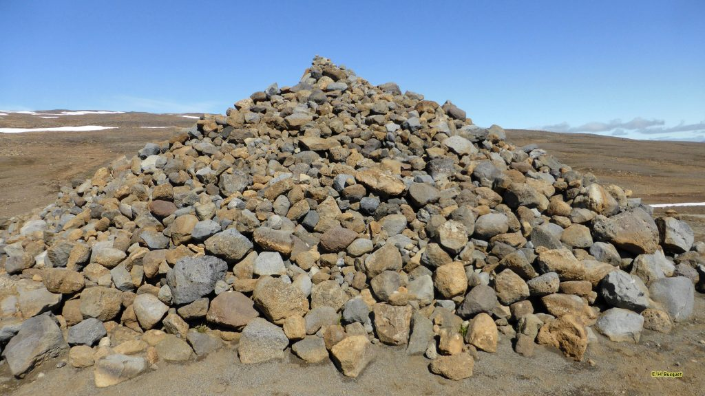 Stone cairn in Iceland
