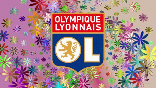 Lyon football wallpaper with flowers
