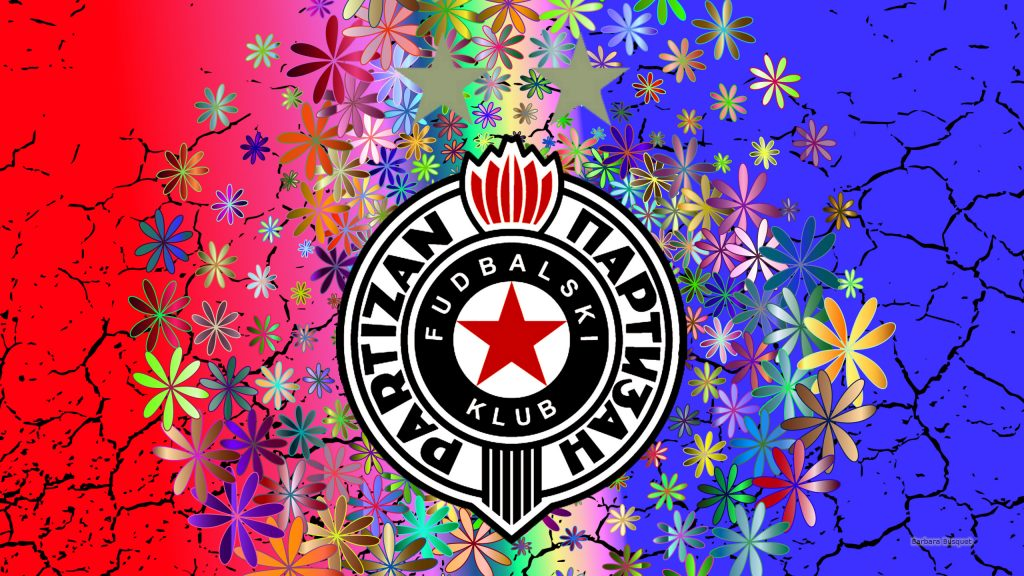 Partizan Belgrade flower wallpaper