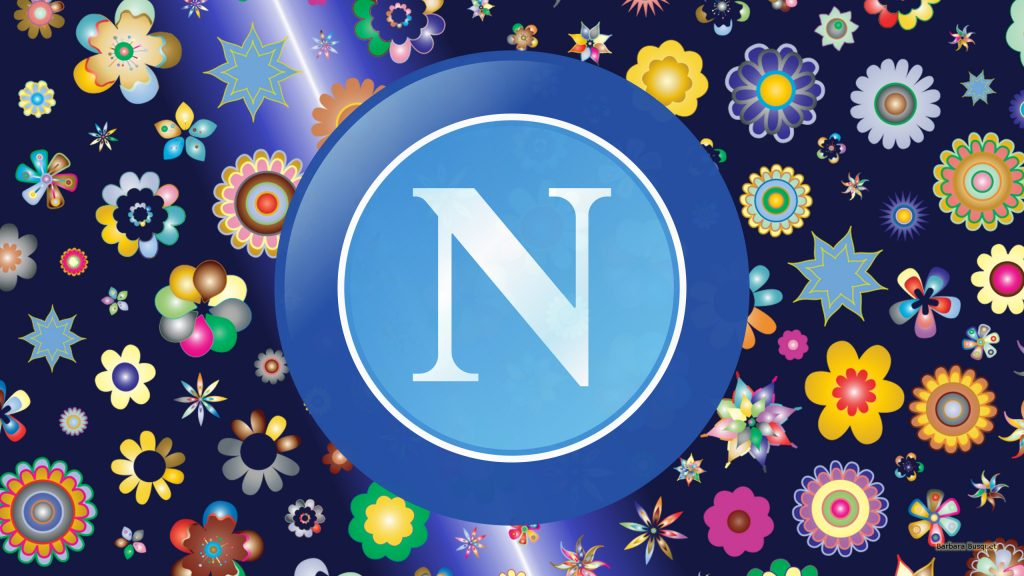 S.S.C. Napoli football club wallpaper with flowers