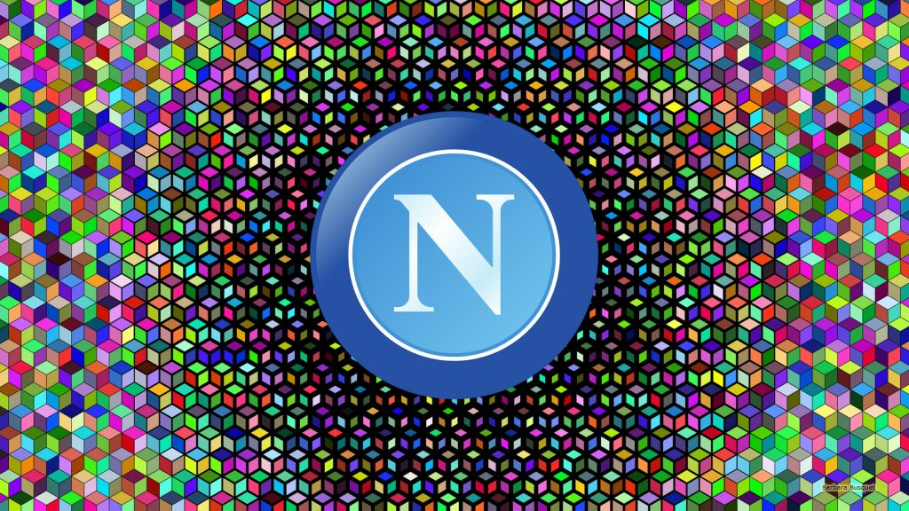 SSC Napoli logo wallpaper with squares