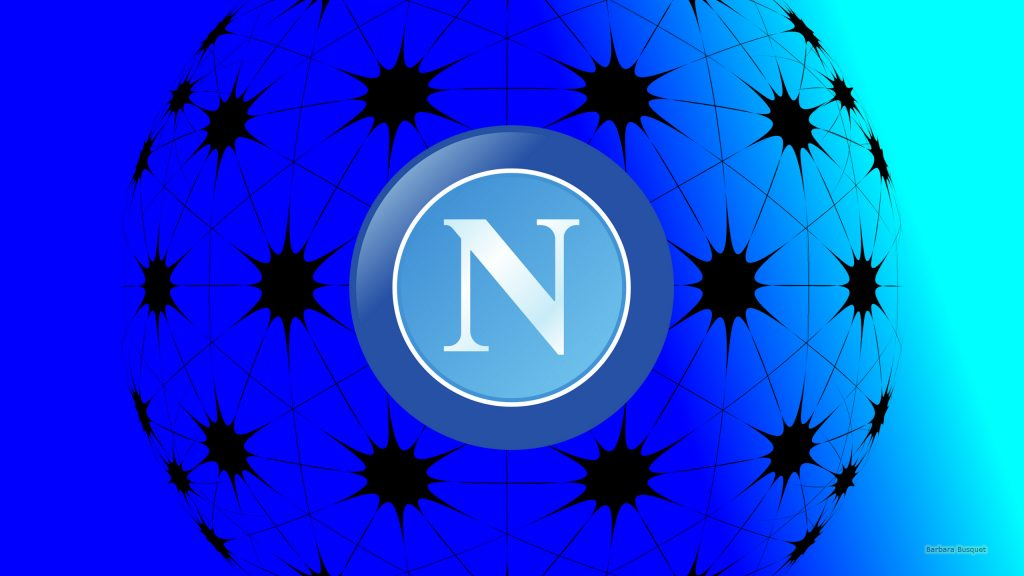 Simple blue SSC Napoli logo wallpaper