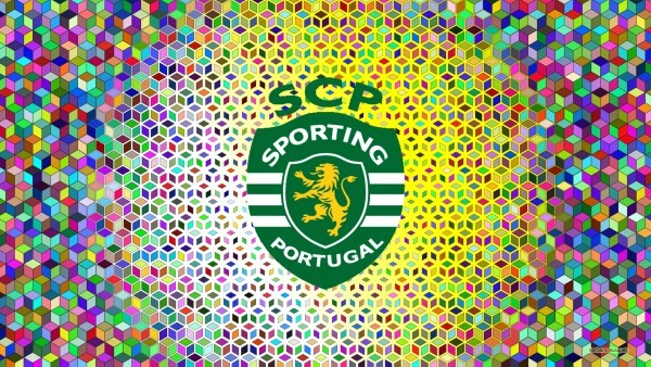 Sporting Lisbon emblem wallpaper squares