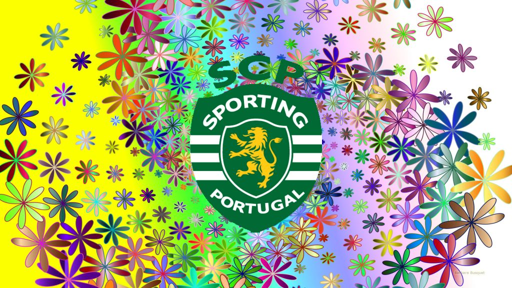 Sporting CP football club wallpaper flowers