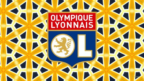Yellow blue Olympique Lyonnais desktop wallpaper