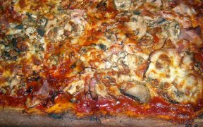 homemade pizza with mushrooms wallpaper