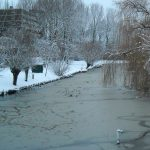 HD wallpaper canal in winter