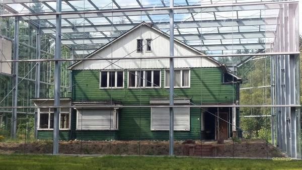 House in glass