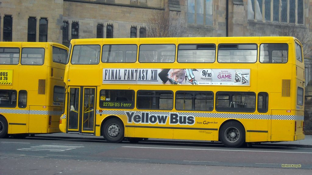 HD wallpaper two yellow buses Newcastle