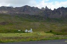 White building on Iceland