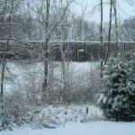Noise barrier in winter