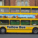 Yellow bus in NewCastle