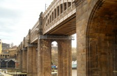 Bridges and buildings in Newcastle
