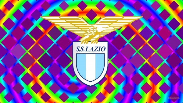 Colorful Lazio football emblem wallpaper