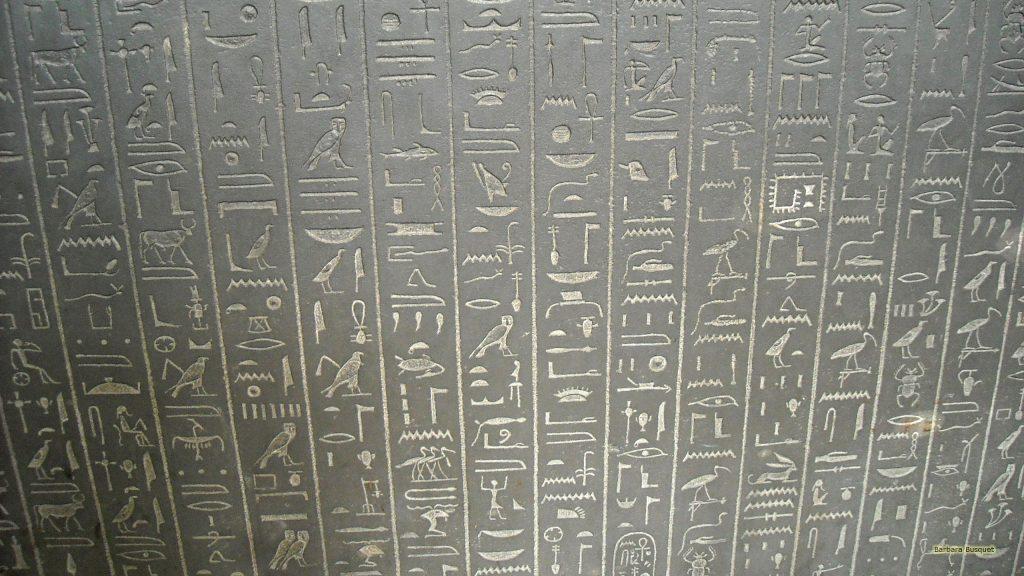 Egyptian hieroglyphics in stone
